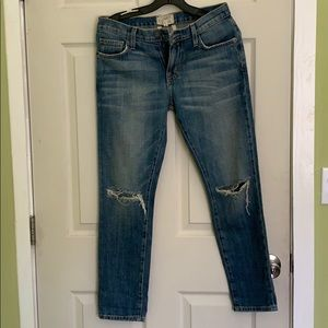 Current Elliott the fling distressed jeans size 25